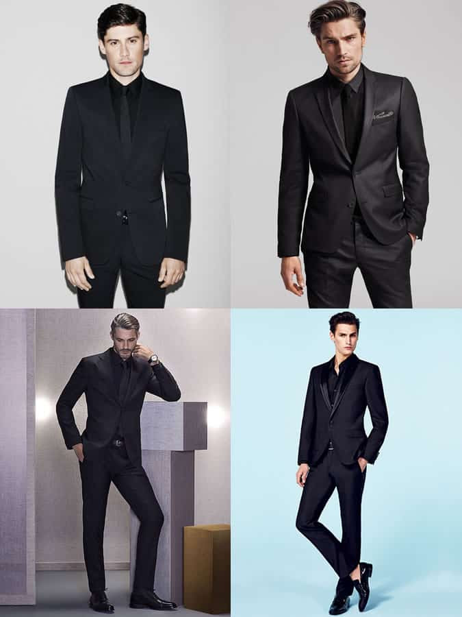 Men's All-Black Suits and Shirts Outfit Inspiration Lookbook