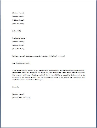 Mistake Letter