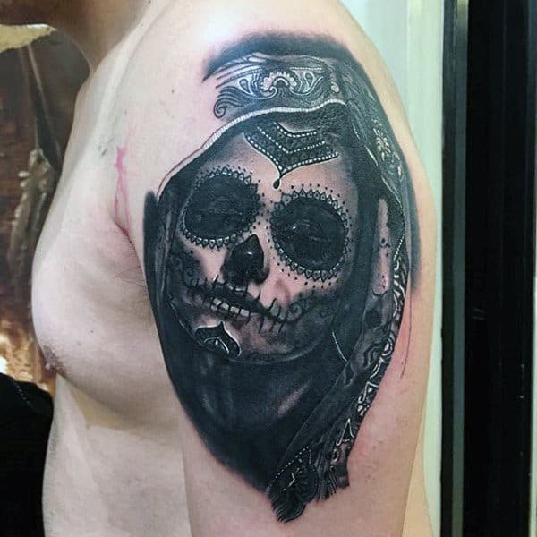 Day Of The Dead Woman Tattoo