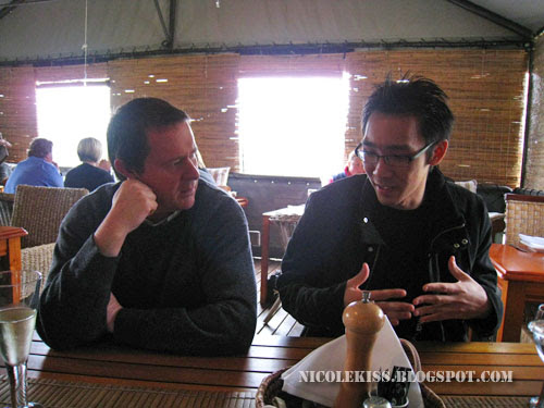 bill and kif at lunch