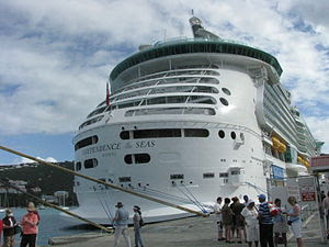 MS Independence of the Seas cruise ship docked...