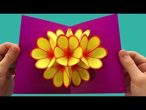 Despertar cajatambino hacer tarjetas pop up de flores - Regalos faciles y rapidos ...