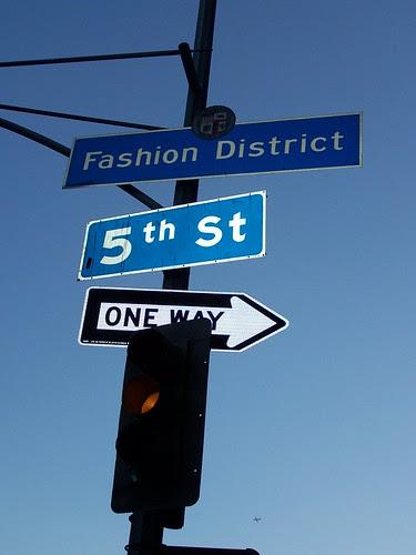 Fashion District neighborhood sign