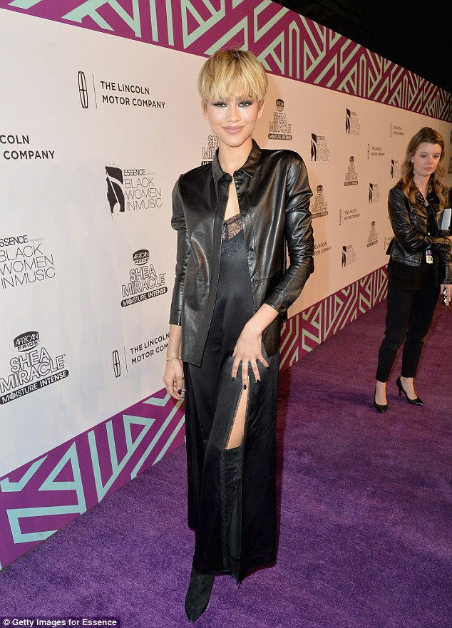 Saucy! Zendaya hit the red carpet at the 2016 at Essence Black Women in Music event, held at Avalon nightclub, in LA on Thursday