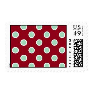 Sophisticated Christmas Polka Dots – Medium Postage Stamp