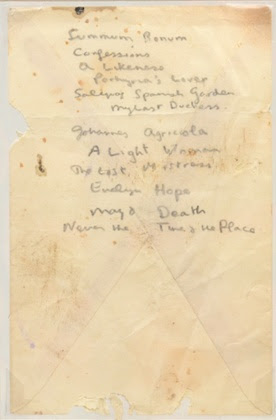 Dylan Thomas's list of Robert Browning poems