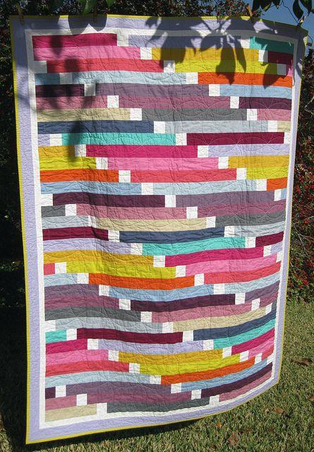 Mikayla's quilt using jelly roll strips - original design | B Gelhausen