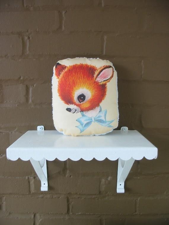 Animal Pillows Cat pillow  Dog Pillow Fox Pillow  Deer Pillow Bunny Pillow Nursery Decor