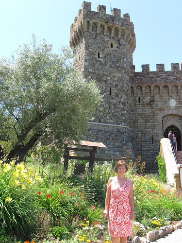 Beth outside castle
