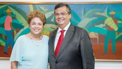 Brasília - DF, 25/02/2015. Presidenta Dilma Rousseff recebe Flávio Dino, Governador do Estado do Maranhão. Foto: Roberto Stuckert Filho/PR.