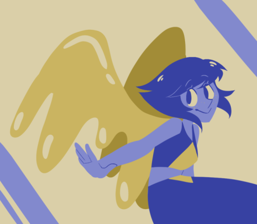 Anonymous said: for the color palette challenge #38 lapis lazuli Answer: Sorry this took so long hhhh My wrist was sore since this weekend ;0; But I hope you like it!