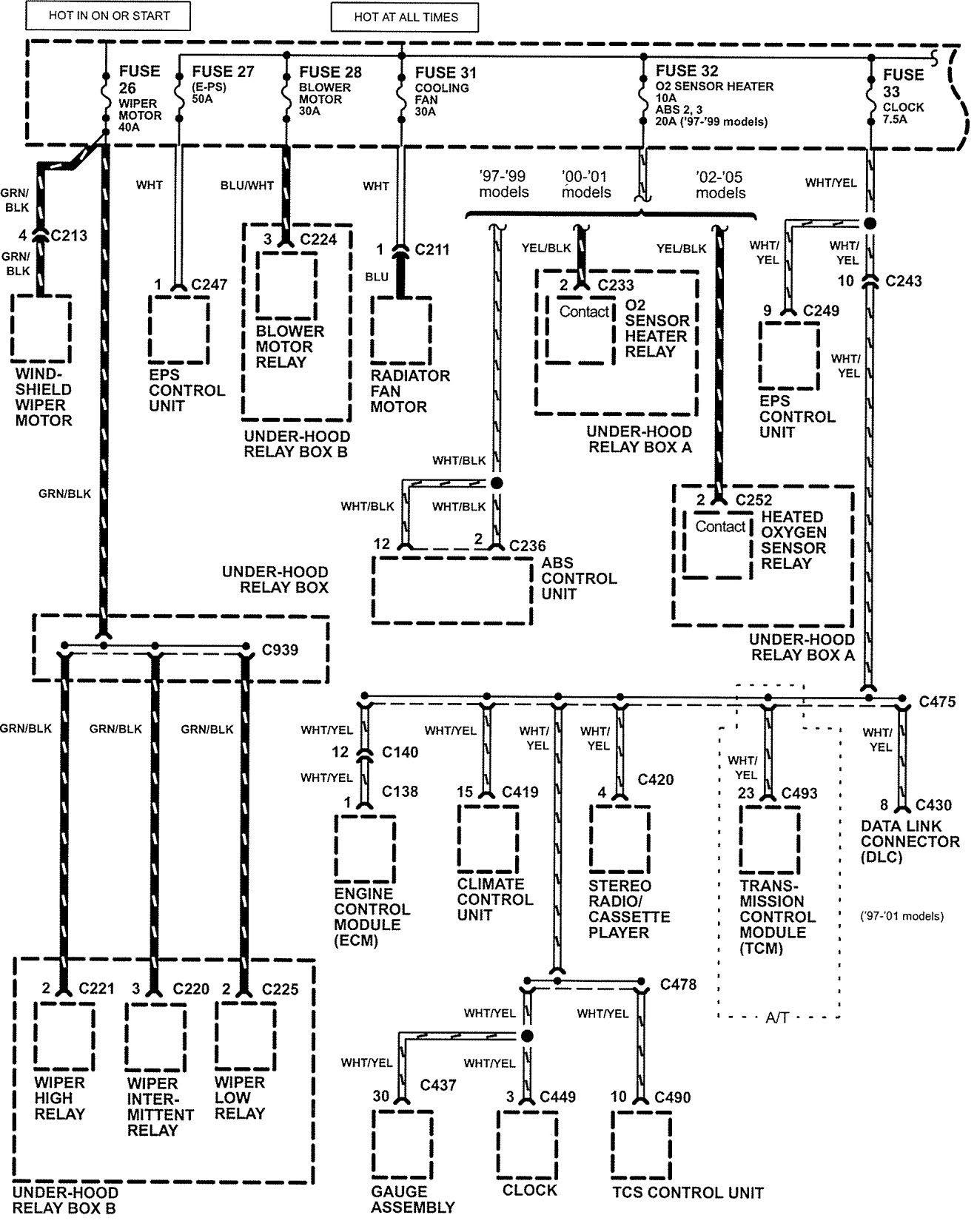 99 Honda Cr V Wiring Diagram - Wiring Diagram Networks