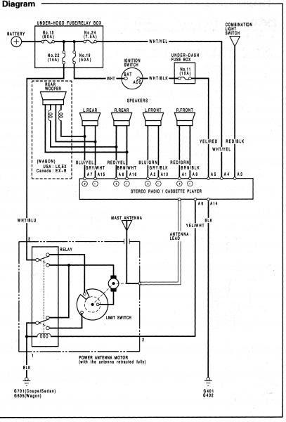 1994 Honda Accord Stereo Wiring Diagram