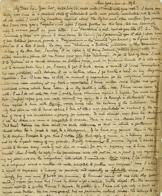 edgar allan poe addresses letter to helen of troy