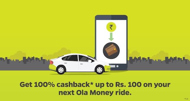 Get 100% cashback on 5 Ola rides (for mumbai users)