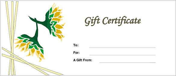 Gift Certificate Template – 34+ Free Word, Outlook, PDF, InDesign ...