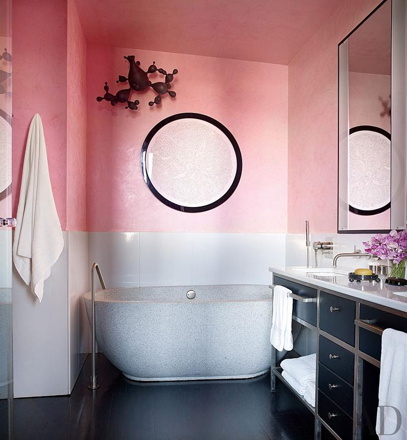 25 Astonishing Pink Bathroom Design Ideas - Rilane