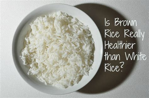 white rice   brown