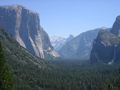 Looking into Yosemite, morning of June 29, 2005