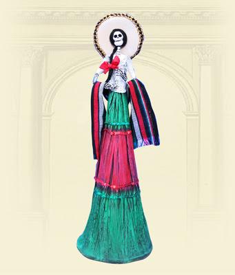 Catrinas Modelado En Papel Decorado A Mano Por Mary Carmen Becerra