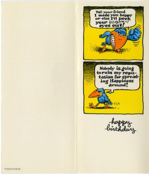 Illustrazione per cartolina di compleanno (retro)