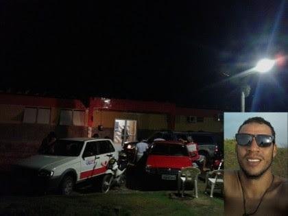 Neinho (foto menor) foi um dos alvejados (Foto: Ubatã Notícias)
