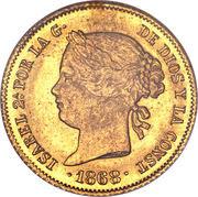 4 Pesos - Isabella II – obverse