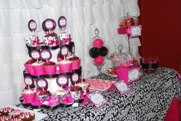 Hot Pink And Black Baby Shower Decorations Baby Interior Design