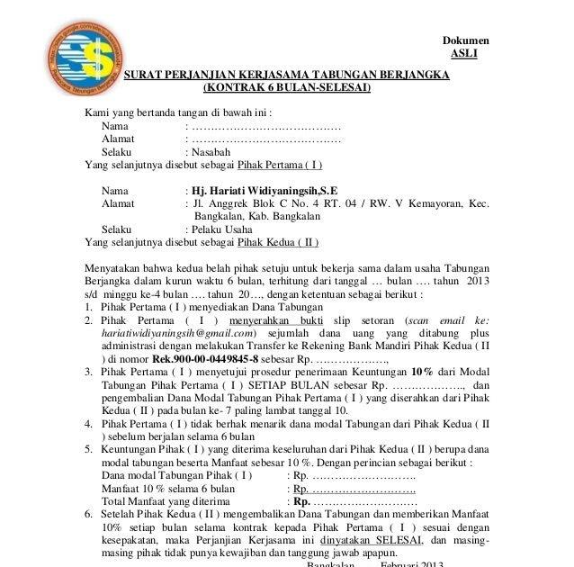 Download Mou Gadai Kontrak Rumah Doc. - Contoh Surat ...