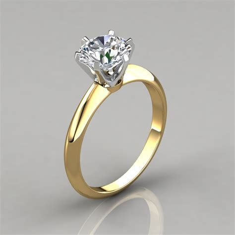Six Prong Round Brilliant Solitaire Engagement Ring
