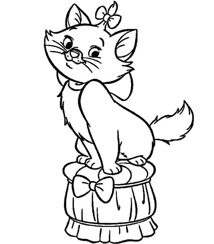 Dibujo De Gatos Para Imprimir Y Colorear 4 De 12 Mildibujoscom