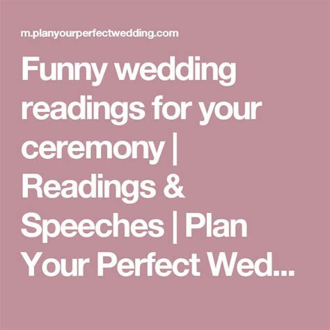 Funny wedding readings for your ceremony   poems   Wedding