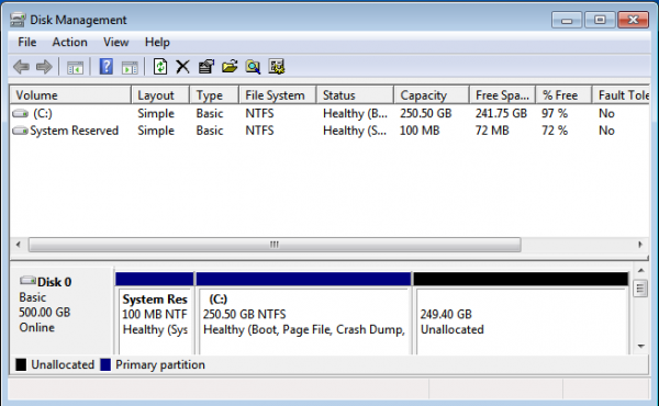 Windows 7 Partitions