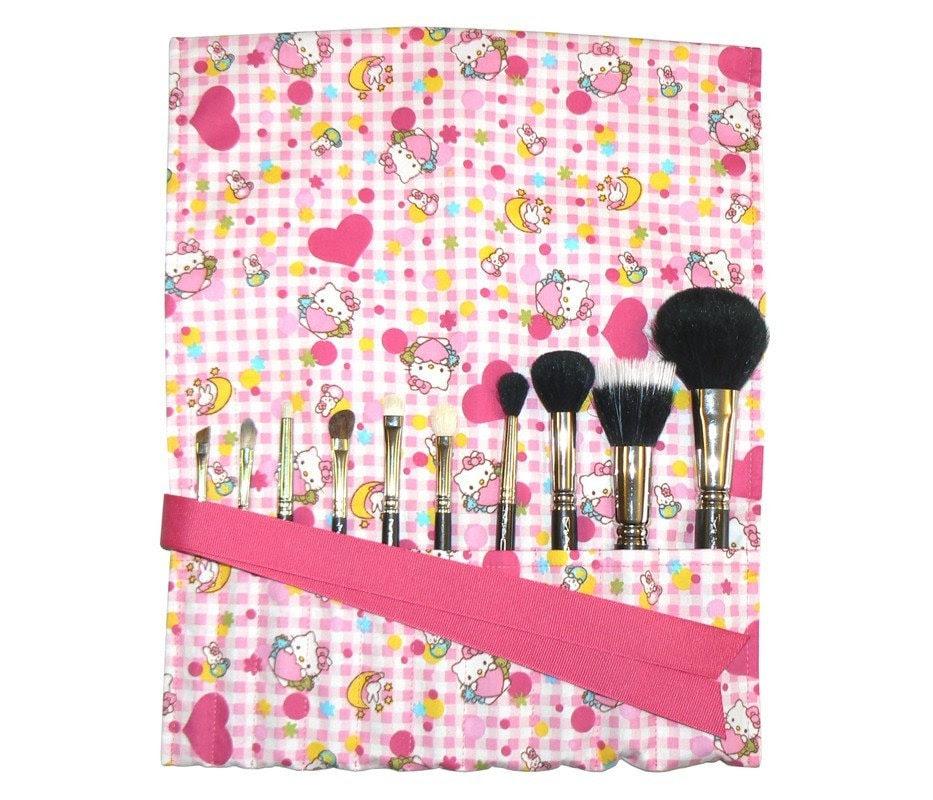 Hello Kitty makeup brush roll organizer - kawaii japanese import
