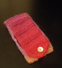 ipod case 4g knitted free easy cosy pattern