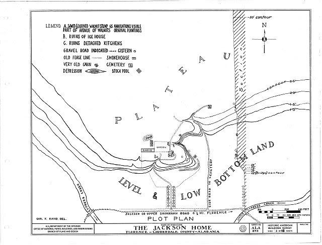 HABS ALA,39-FLO.V,3- (sheet 1 of 18) - Forks of Cypress, Savannah Road (Jackson Road), Florence, Lauderdale County, AL