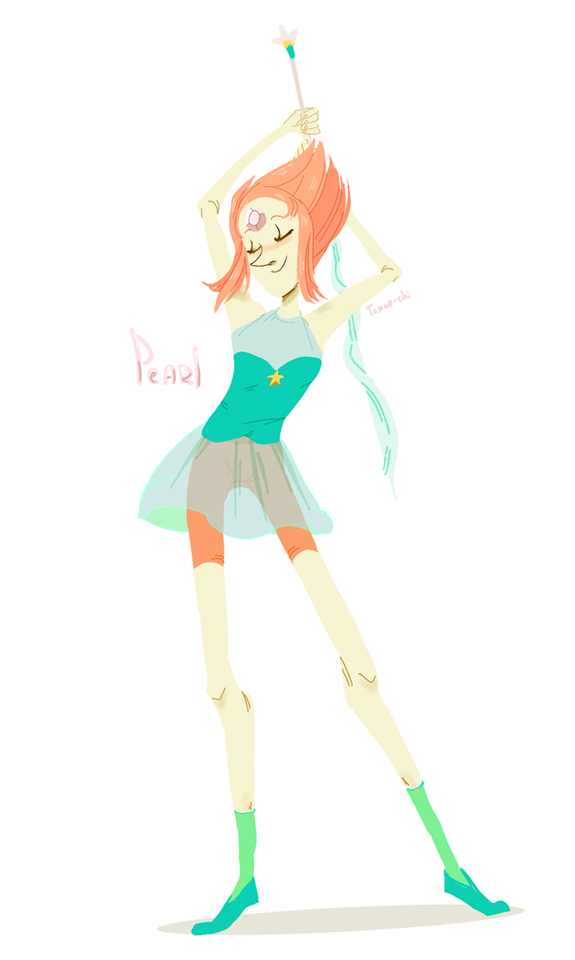 i found my very first Pearl drawing from 2013 and redrew it :V