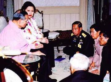 King Bhumibol, Queen Sirikit, Prem Tinsulanonda, Sonthi Boonyaratglin