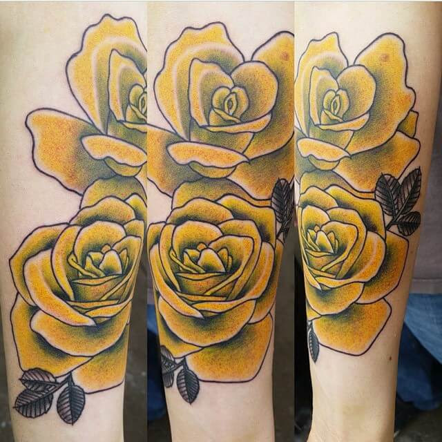 Yellow Roses Best Tattoo Piercing Shop Tattoo Artists In Denver