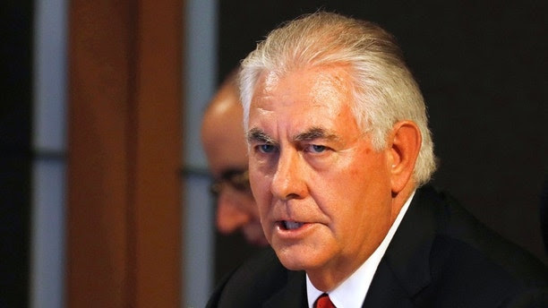 U.S. State Secretary Rex Tillerson gives an opening statement during the ASEAN-U.S. Ministerial meeting of the 50th Association of Southeast Asia Nations Regional Forum in suburban Pasay city southeast of Manila, Philippines Sunday, Aug. 6, 2017. (Erik De Castro/Pool Photo via AP)