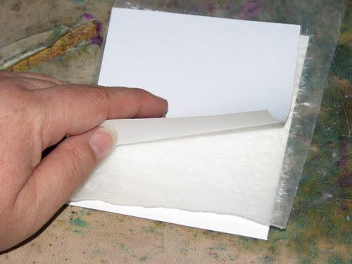 Wax Paper Technique #2 - Faux Embossing Resist 008
