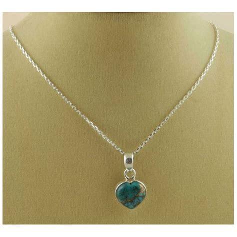 Copper Turquoise Gemstone heart Pendant