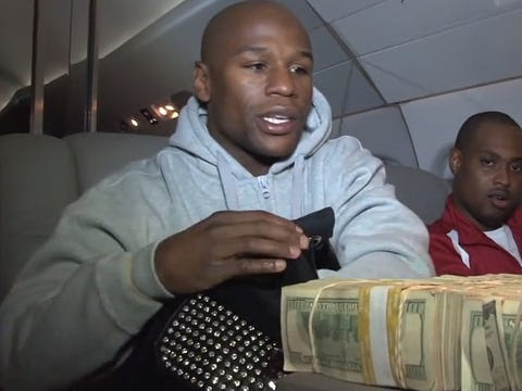 floyd mayweather money counting