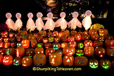 Pumpkins and Ghosts at The Steeple, Delafield, Wisconsin
