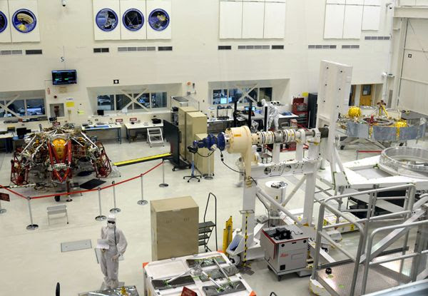 A snapshot that I took of the Mars 2020 descent stage (as well as the cruise stage to the right of this photo) at NASA's Jet Propulsion Laboratory near Pasadena, California...on May 30, 2018.