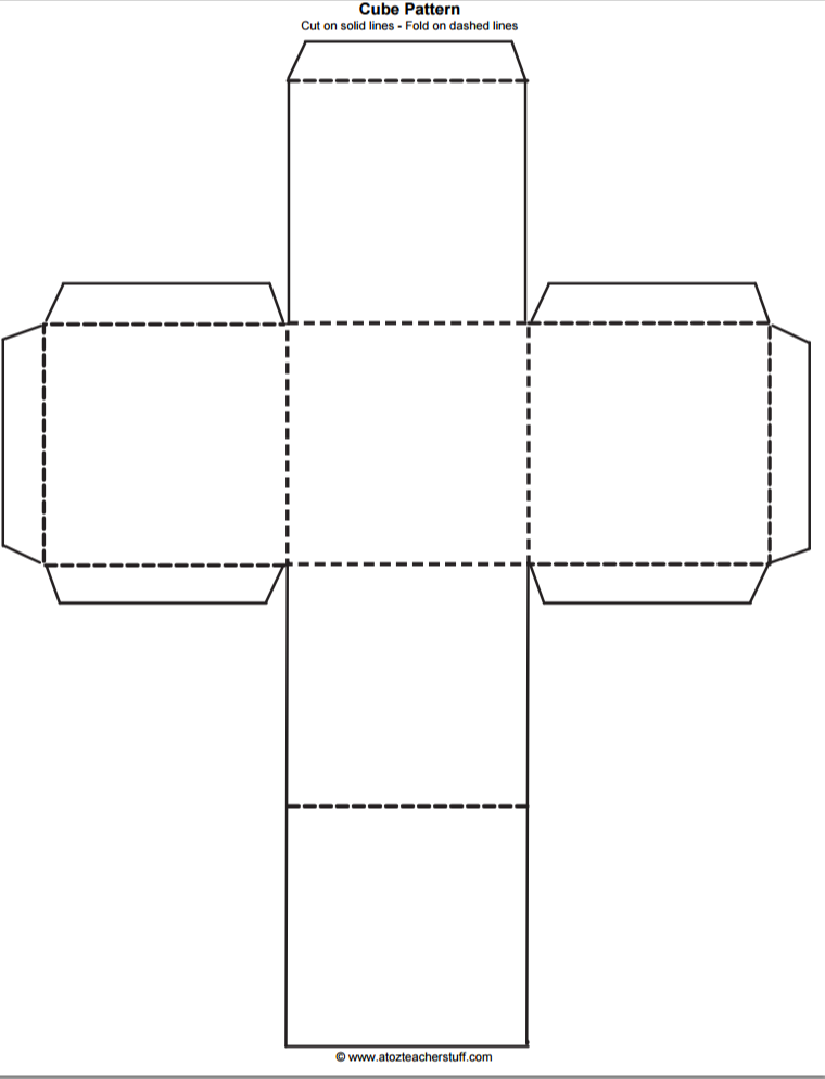 Printable Cube Pattern or Template   A to Z Teacher Stuff ...