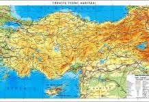 Fiziki Harita Türkiye Haritası