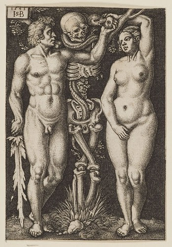 Adam and Eve by Hans Sebald Beham and Barthel Beham 1543