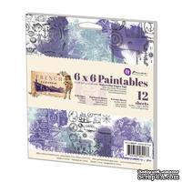 Набор акварельной бумаги от Prima - French Riviera Paintables, 15,24x15,24 см, 12 л - ScrapUA.com