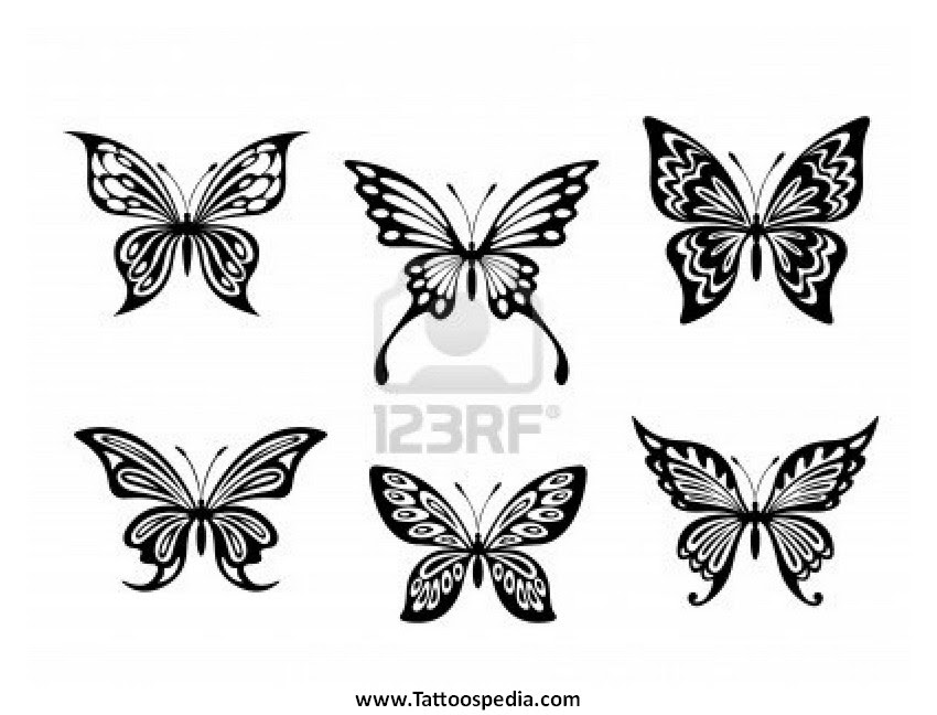 Butterfly Tattoo Designs Black And White 1